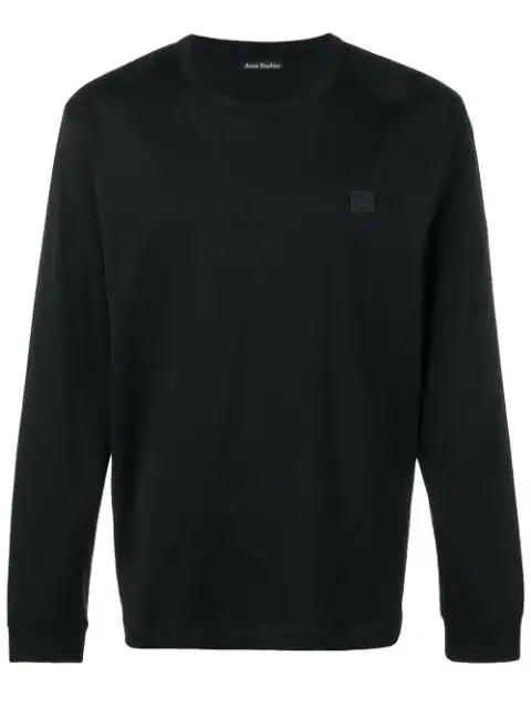 Acne Studios Long Sleeve Crew Neck In Black