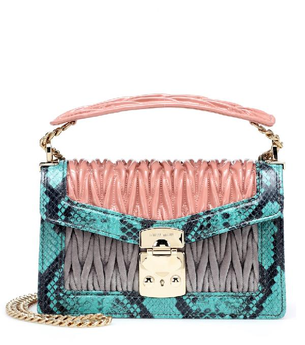 4554d01c4508 Miu Miu Confidential Leather Shoulder Bag In Pink | ModeSens
