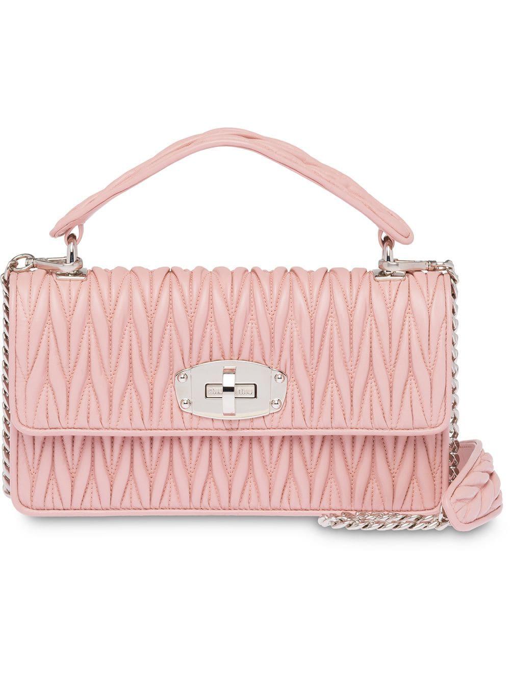 d185f52123a9 Miu Miu Miu Cleo Matelassé Bag - Pink