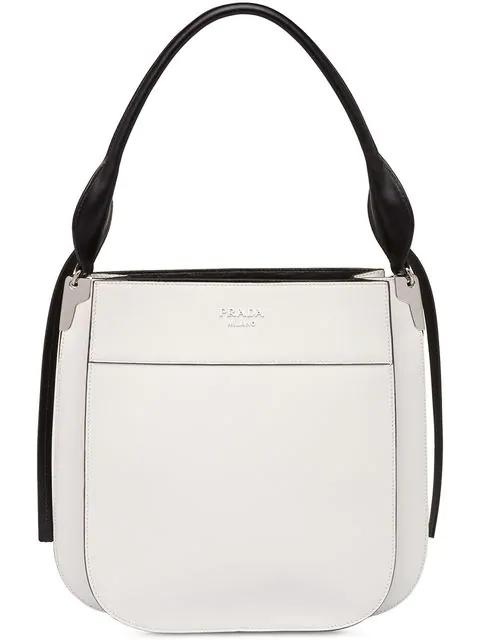 Prada Large Margit Shoulder Bag - White