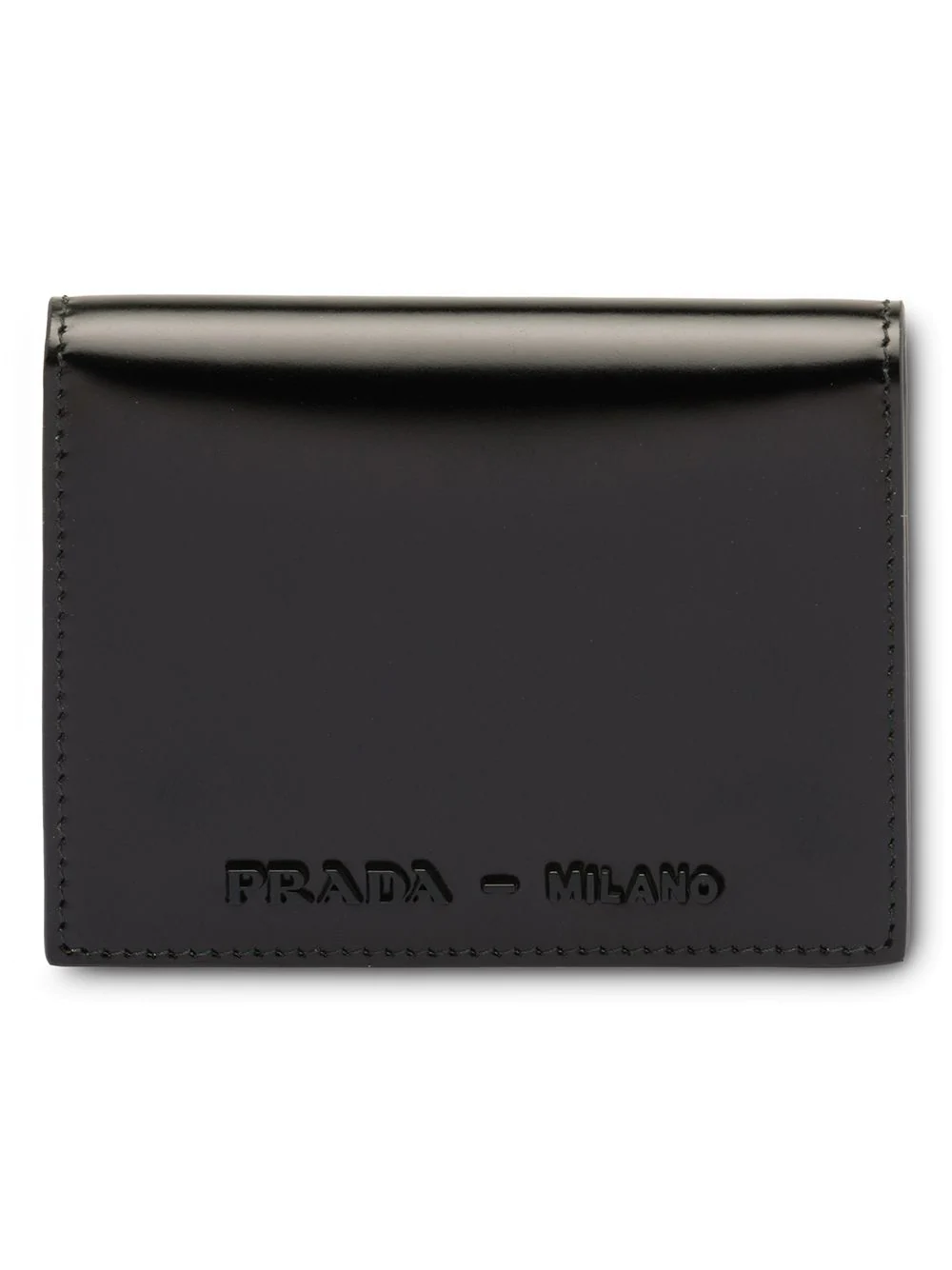 8cc2918415cb Prada Logo Plaque Bifold Wallet - Black | ModeSens