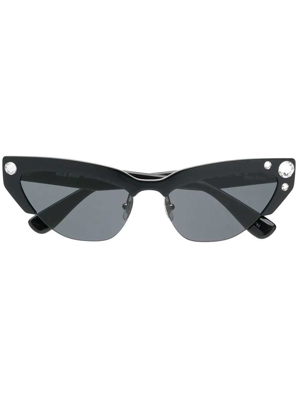 06943d7a11b Miu Miu Eyewear Smu04U Sunglasses - Black