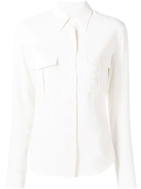 Calvin Klein Slim Fit Shirt In White