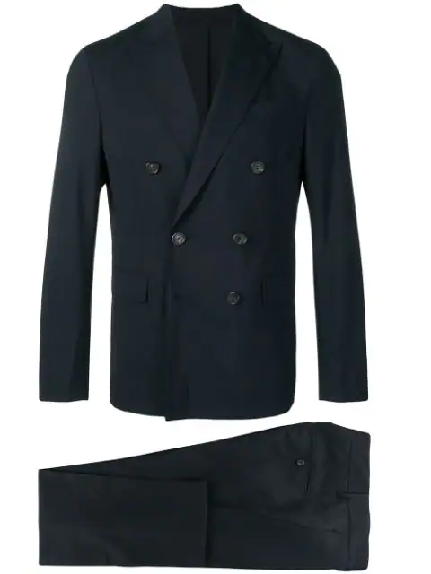 Dsquared2 Classic Double-Breasted Suit In Blue