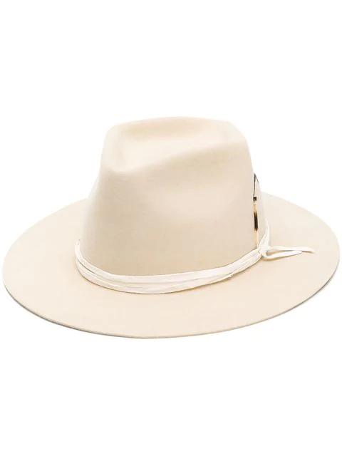Nick Fouquet Lace Up Detailed Hat - Neutrals