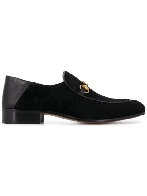 Gucci Horsebit Collapsible Leather Loafer In Black