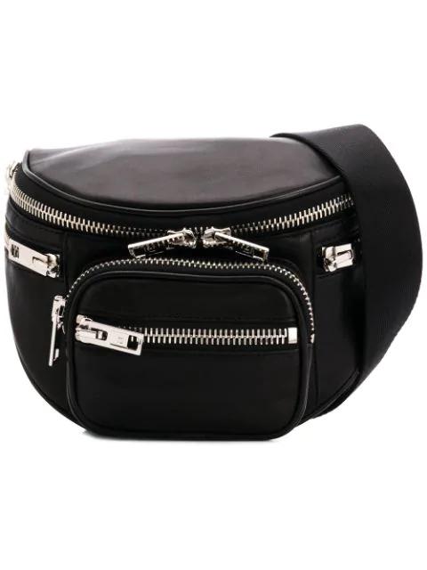 Alexander Wang Multi-zip Crossbody Bag In Black