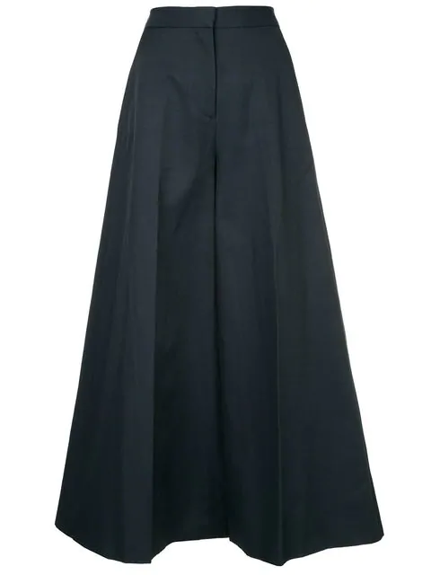 Stella Mccartney Wide-Leg Trousers In Blue