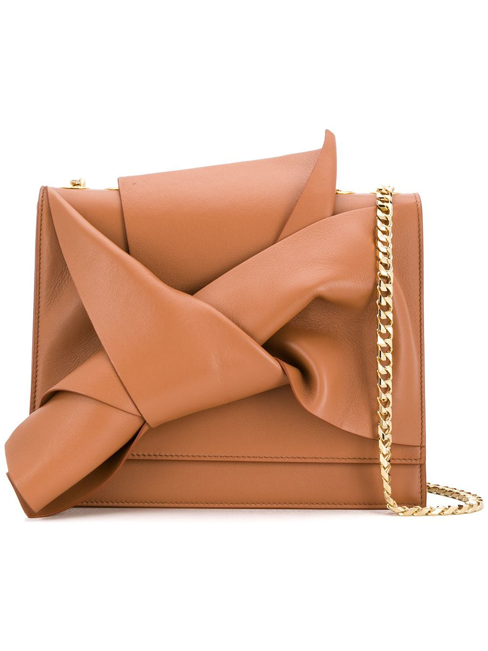 N°21 Nº21 Knot Detail Shoulder Bag - Brown