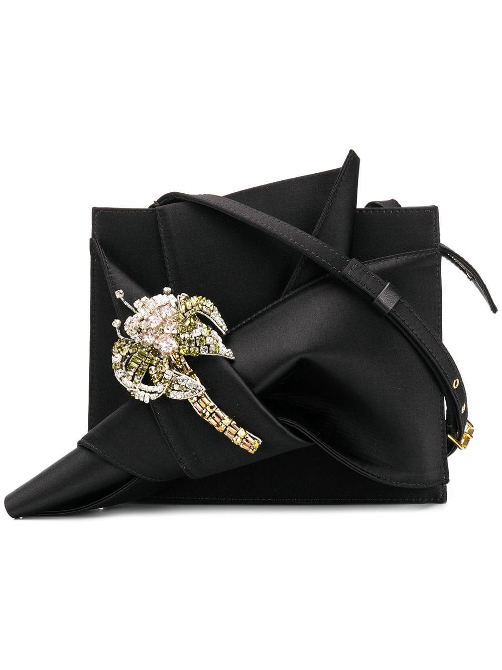 N°21 Nº21 Knot Detail Shoulder Bag - Black