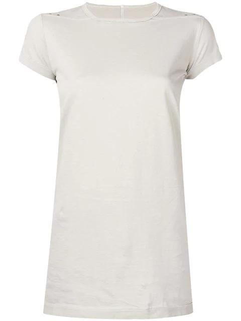 Rick Owens Basic T-Shirt In Neutrals