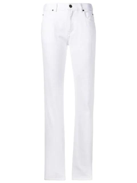 Calvin Klein 205w39nyc Straight Leg Jeans In White