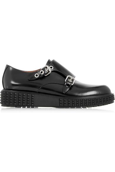 Valentino Black Monk Strap Formal Loafers