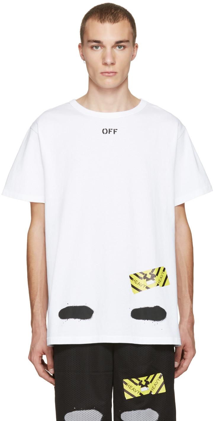 6a1af3dc540 Off-White Spray Stripes Cotton Jersey T-Shirt