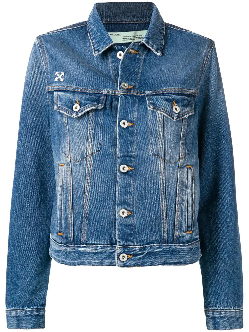 Off-White Faded Denim Jacket - Blue