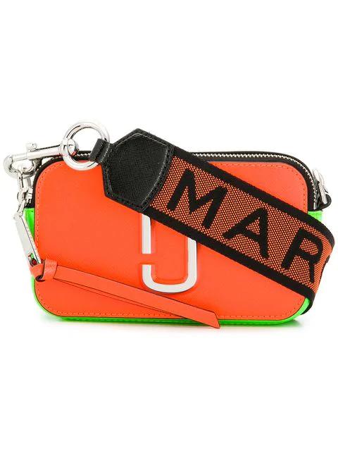 Marc Jacobs Small Snapshot Crossbody Bag In Orange
