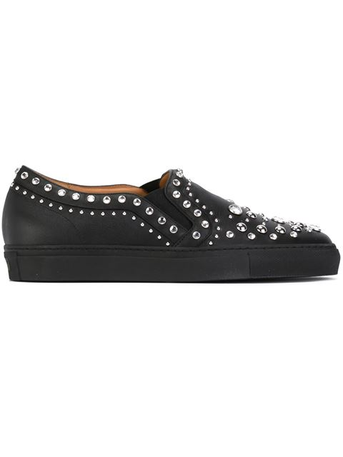 Givenchy Guvenchy Black Loafers With Studs And Crystals