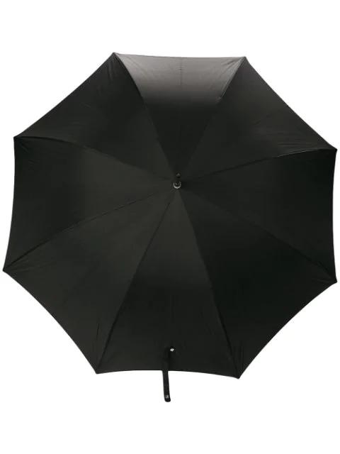 Alexander Mcqueen Skull Handle Umbrella In Black