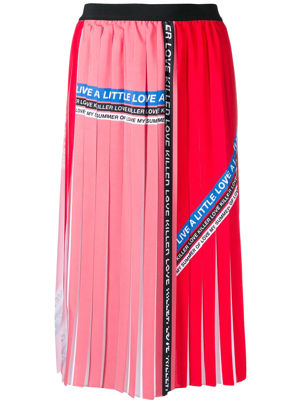 2f29329ba5 Pinko Printed Pleated Midi Skirt - Red | ModeSens