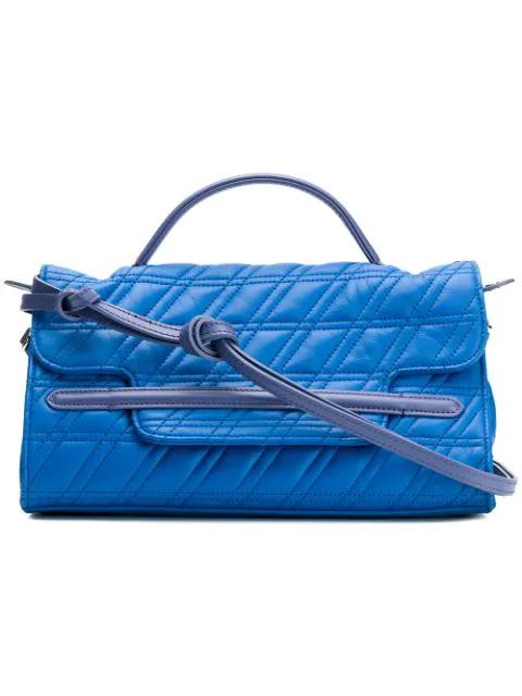 Zanellato Quilted Tote Bag In Blue