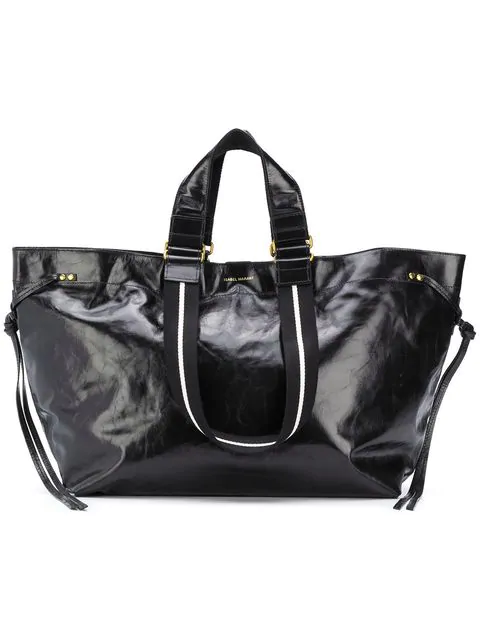 Isabel Marant Wardy Leather Shopper Bag In Black