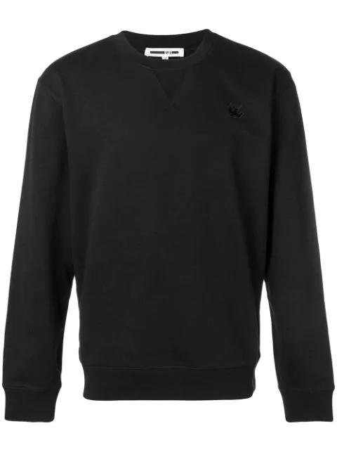 Mcq By Alexander Mcqueen Swallow Patch Sweatshirt In Black