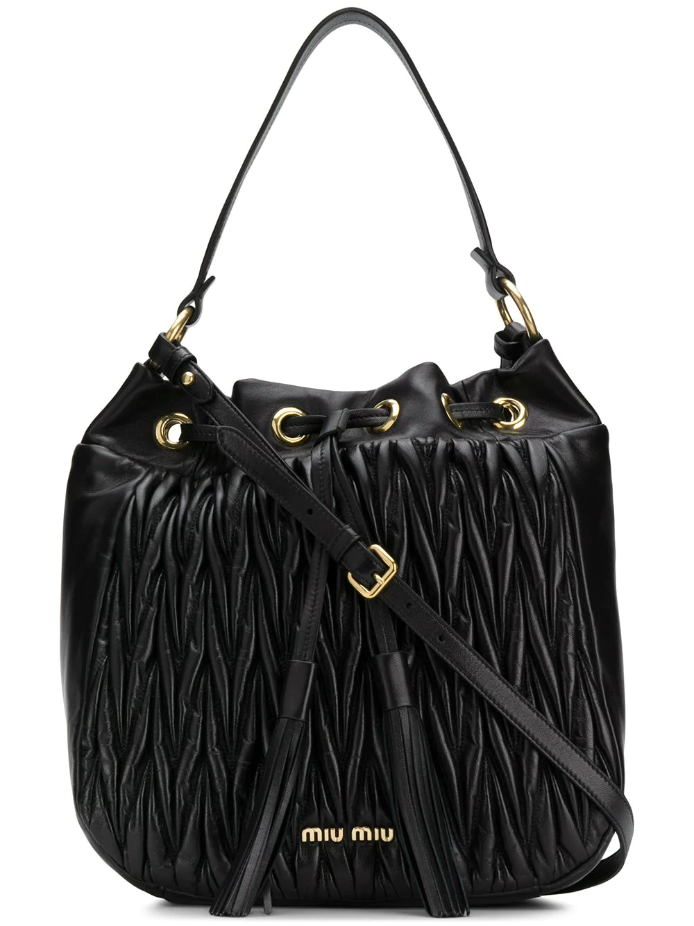348dbe466acd Miu Miu Matelassé Shoulder Bag - Black