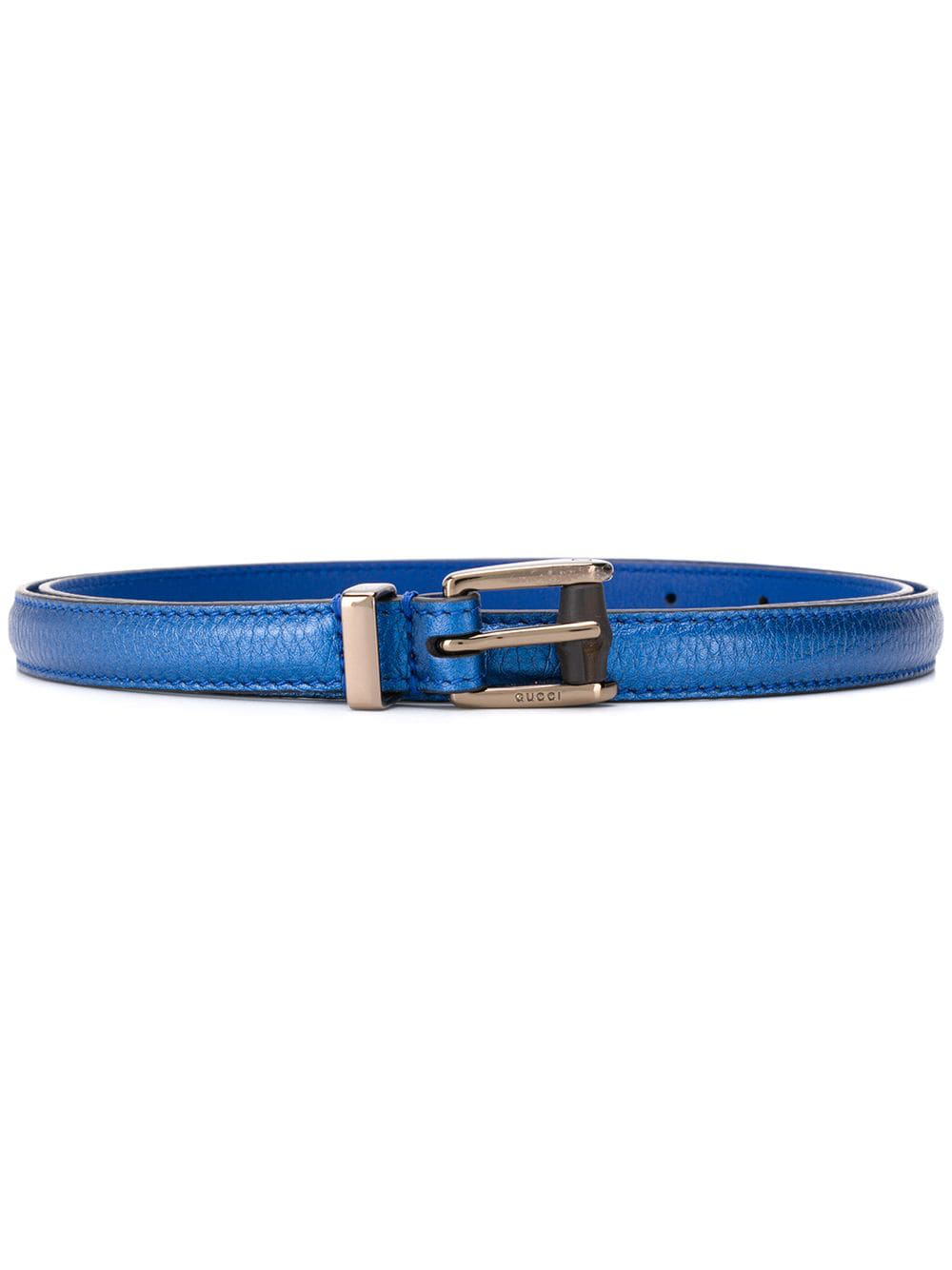 1b2cf325039 Gucci Logo Embossed Tang Buckle - Blue