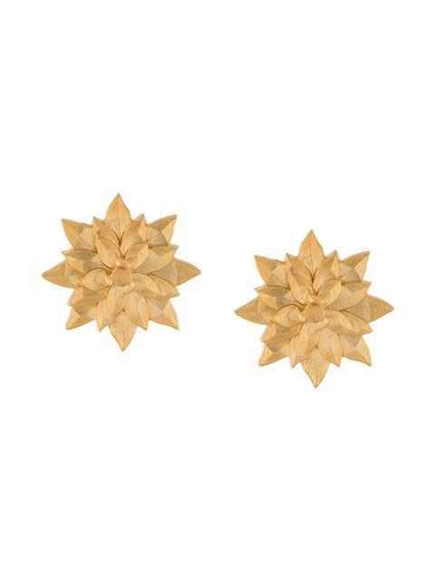 Natia X Lako Small Flower Earrings In Gold