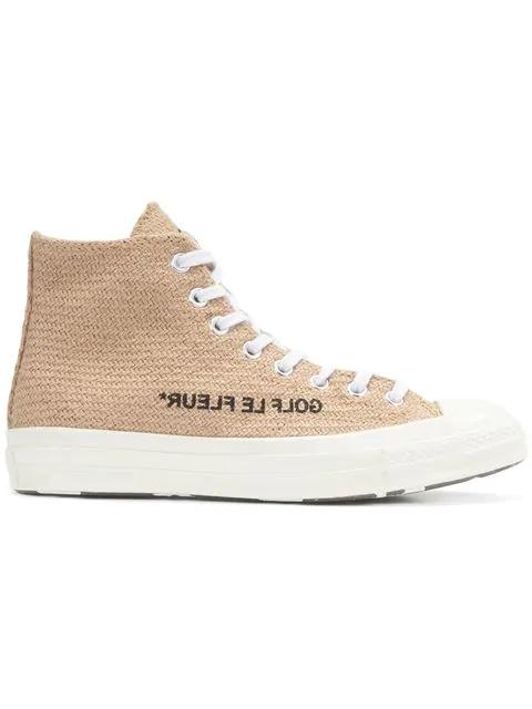 Converse Golf Le Fleur Chuck Taylor 70 Hi Top Sneakers In Brown