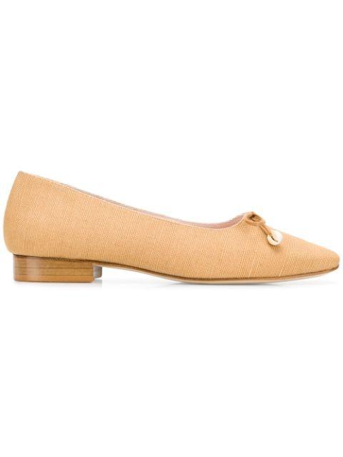 Leandra Medine Shell Ballerina Shoes - Neutrals