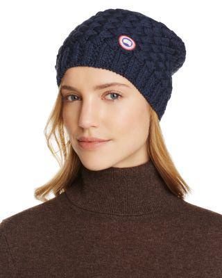 694b899f7b55c Canada Goose Cable Knit Merino Wool Beanie - Black