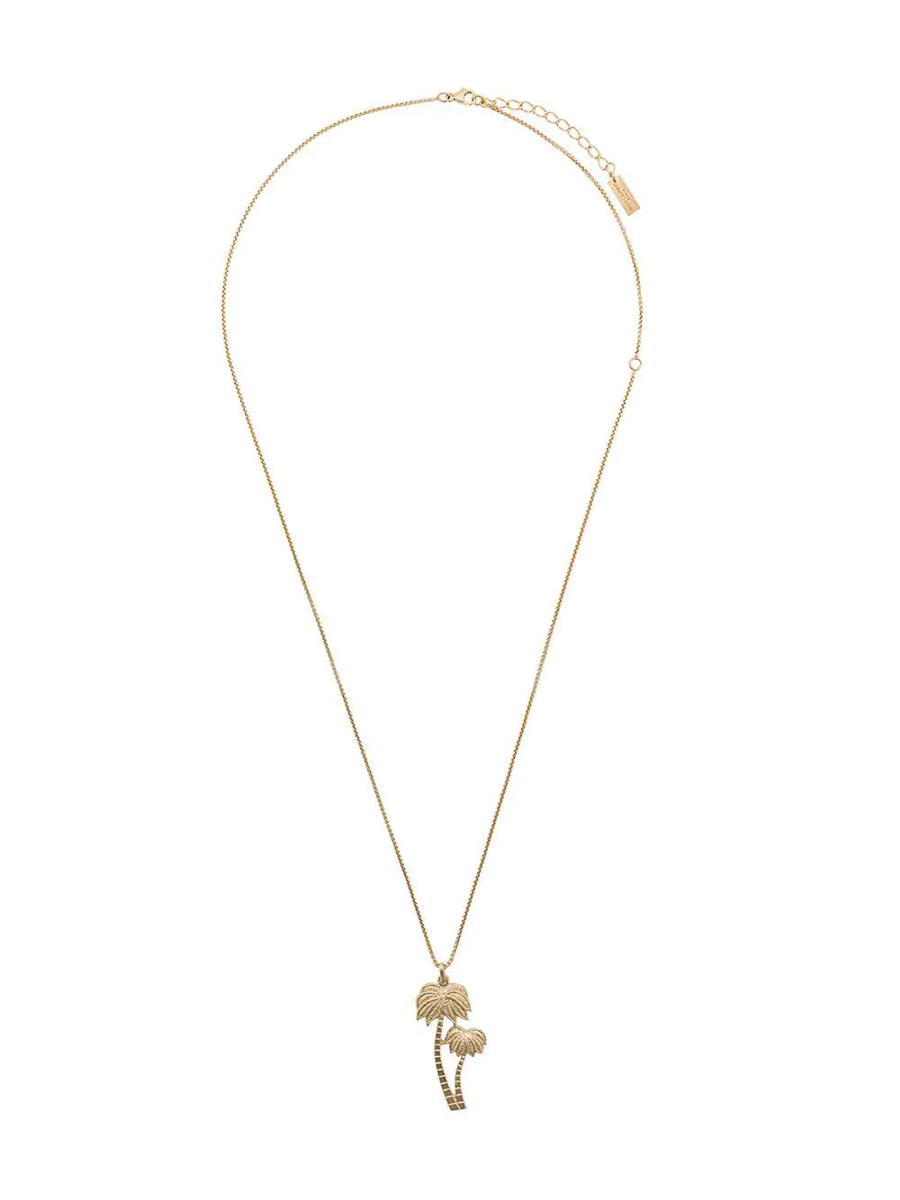 b7e0e3114b6 Saint Laurent Palm Tree Pendant Necklace - Gold | ModeSens