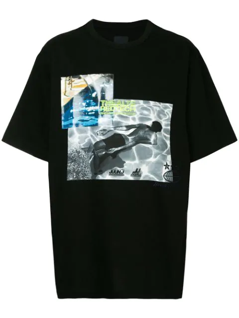 Juun.j Thealte Redtech Printed T In 5 Black