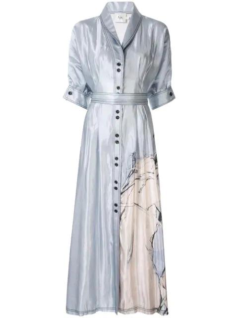 Aje Hudson Printed Dress - Silver