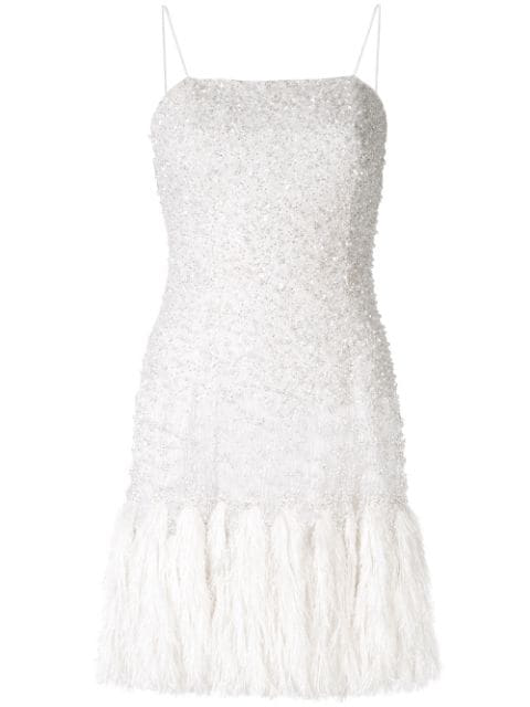 Aje Pellina Beaded Dress - White