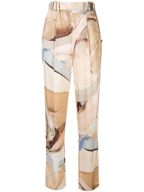 Aje Chiltern Satin Trousers - Multicolour