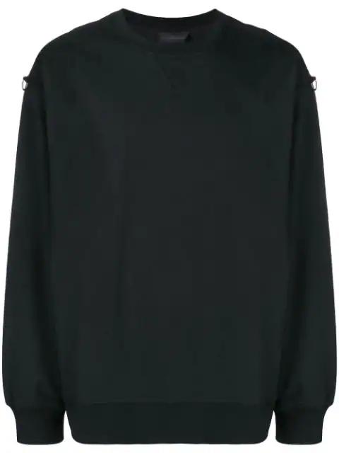 Diesel Black Gold D-ring Sweatshirt In Black