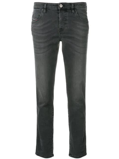 Diesel Babhila Slim-fit Jeans In Grey