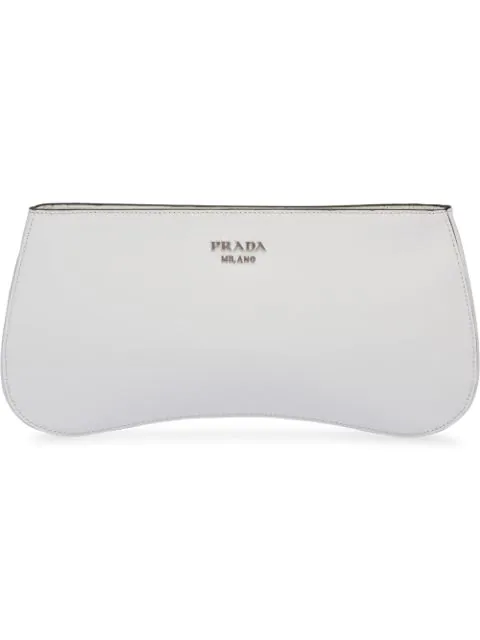 Prada Sidonie Leather Shoulder Bag In White
