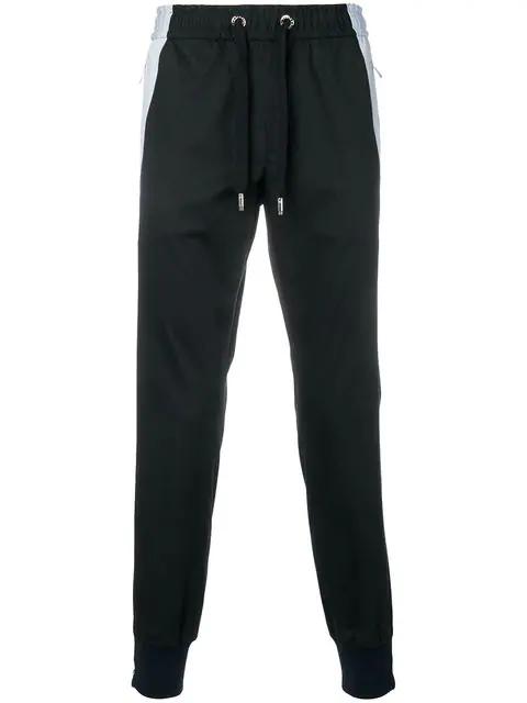 Dolce & Gabbana Zipped Track Pants In Blue
