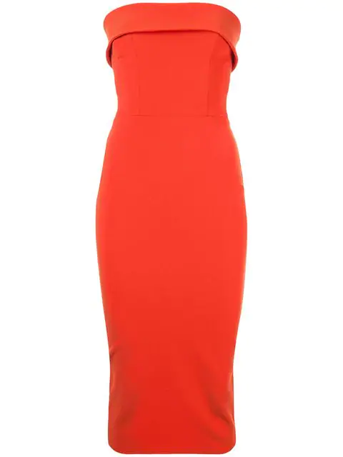 Alex Perry Audra Strapless CrÊpe Dress In Red