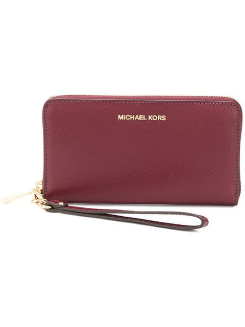 Michael Michael Kors Jet Set Travel Continental Purse In Red
