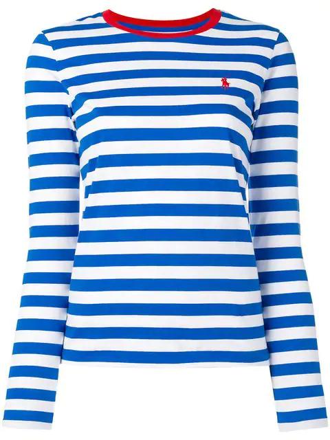 Ralph Shirt Striped Lauren Blue Polo T nvm8N0w