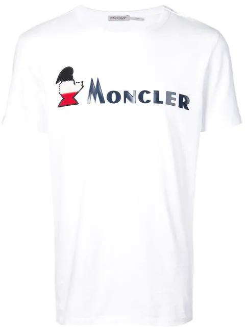 9db868886 Moncler T-Shirt Mit Print - Weiß in White