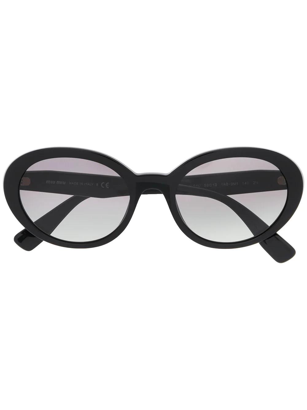 82c7d46d879 Miu Miu Eyewear Round Frame Sunglasses - Black