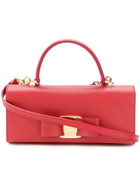 Salvatore Ferragamo Vara Bow Mini Bag In Red