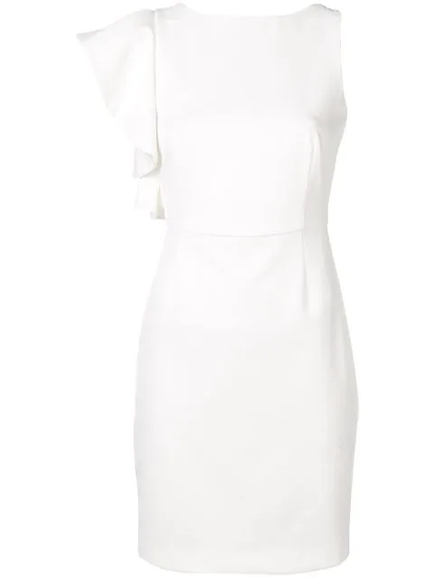 Blugirl Fitted Mini Dress In White