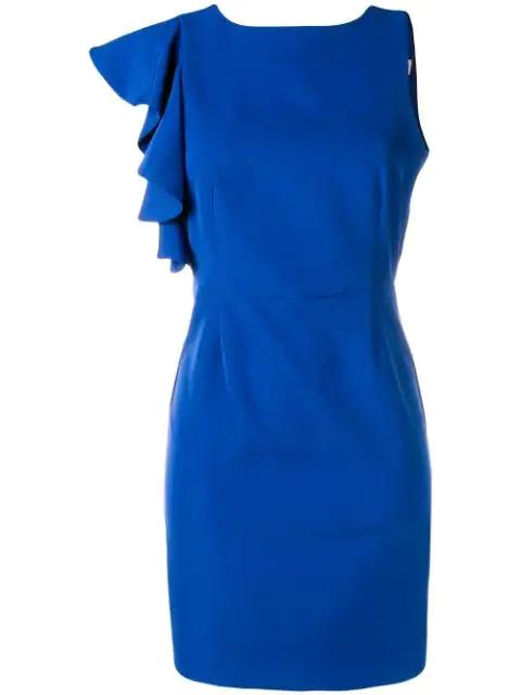 Blugirl Fitted Mini Dress In Blue