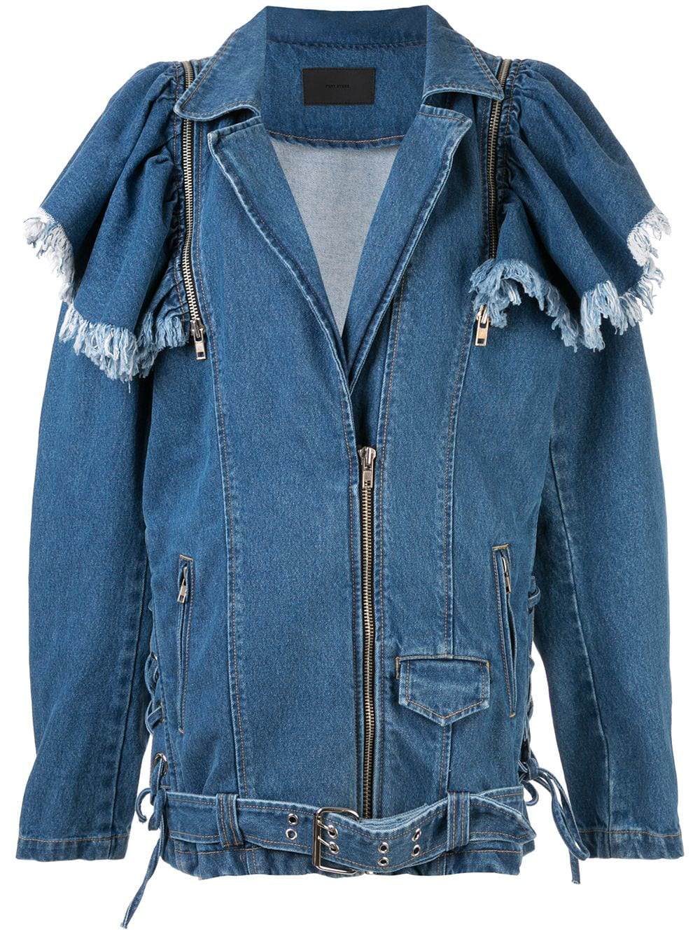 98d4994ccf Pony Stone Maggie Oversized Denim Jacket - Blue